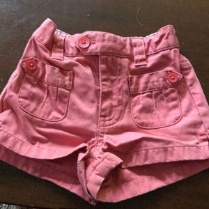Pink baby gap girl shorts size 6-12 months